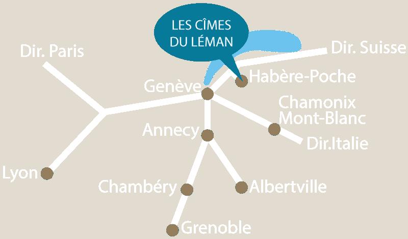 Accès les Cîmes du Léman Haute Savoie